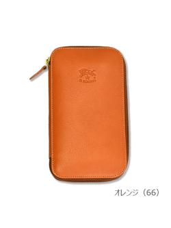 イルビゾンテ【長財布(ボタン)】オレンジ