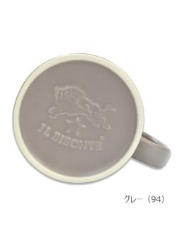 イルビゾンテ【マグカップ】グレー・底面ロゴ。2017最新アイテムです。