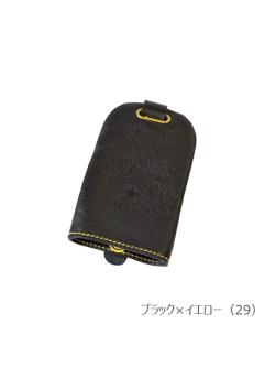 イルビゾンテ【キーケース(2017SS JAPAN EXCLUSIVE MODEL) 54172306091】ブラック×イエロー
