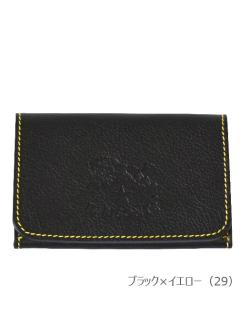 イルビゾンテ【カードケース(2017SS JAPAN EXCLUSIVE MODEL) 54172305691】ブラック×イエロー