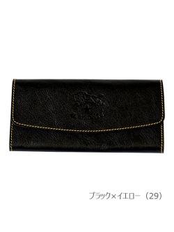 イルビゾンテ【長財布(2017SS JAPAN EXCLUSIVE MODEL) 54172305891】ブラック×イエロー