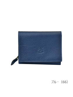 IL BISONTE イルビゾンテ【折財布(Color Leather) 54182305540】ブルー
