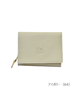 IL BISONTE イルビゾンテ【折財布(Color Leather) 54182305540】アイボリー